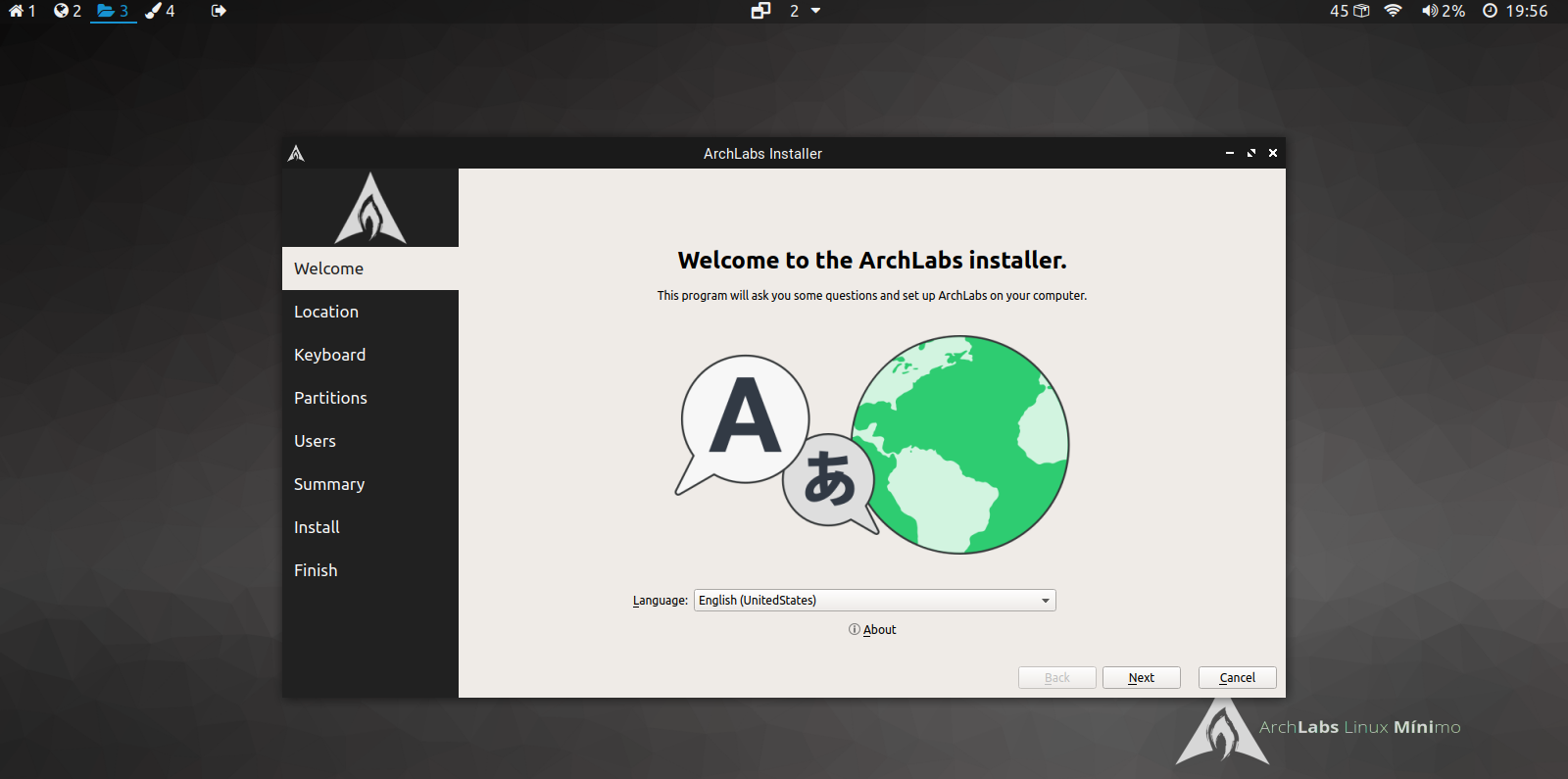 archlabs minimo installation