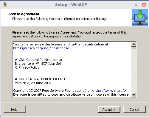 install winscp on linux 1