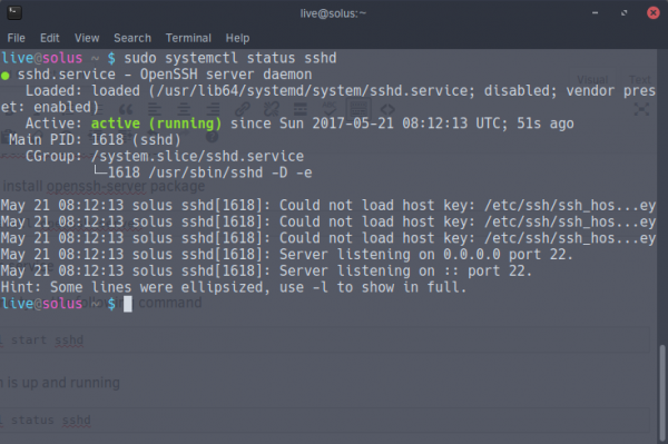 enable SSH on Solus OS