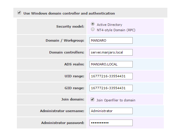 openfiler windows domain join.png