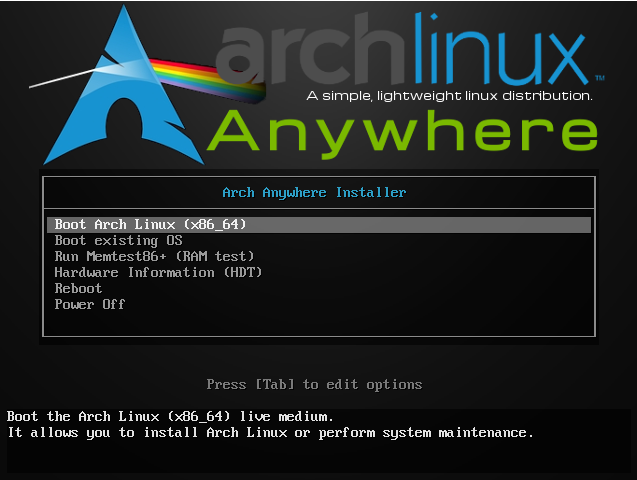 install arch linux step 1