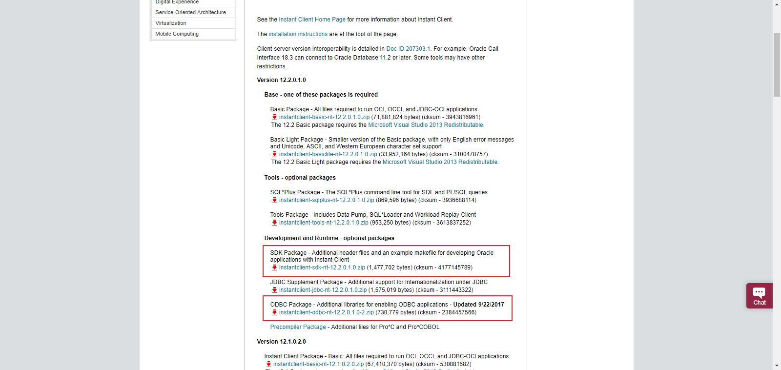 download oracle instant client sdk | Manjaro dot site
